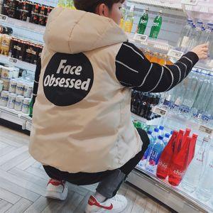 Vest nam mùa thu và áo khoác mùa đông Hàn Quốc phiên bản của xu hướng đẹp trai vest jacket xuống cotton vest mùa đông xã hội tinh thần guy