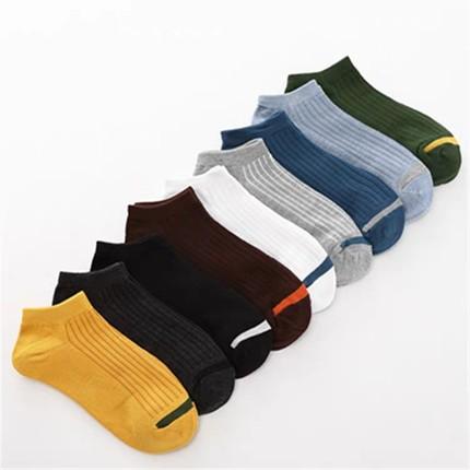 袜子男短袜防臭吸汗船袜5双