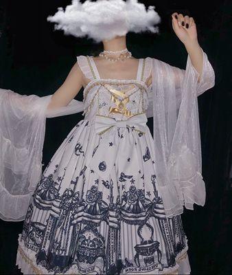 taobao agent Sugar Girl {spot}~Original design Lolita cross reincarnation Gothic dark tie jsk dress