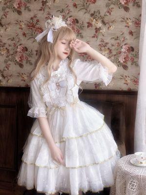 taobao agent {Spot}Sugar Girl ~ Original Design Lolita Dress Confession Love Poem Light Flower Wedding Sling Jsk Dress