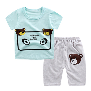 Mùa hè trẻ em mới của quần hậu cung giản dị phù hợp với bé ngắn tay quần short phù hợp với phần mỏng 0-1-2-3-4 tuổi