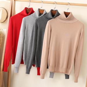 工厂直销长袖套头毛衣高领秋冬款上衣短款女装针织衫打底衫外套