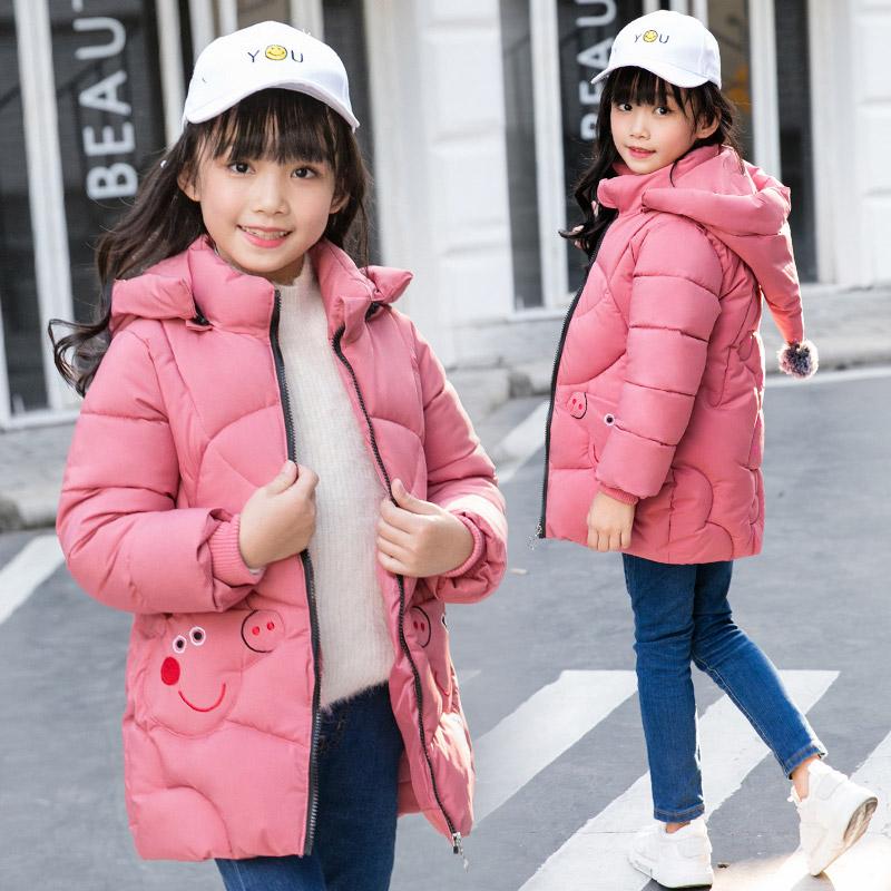 女童棉衣2018新款小童棉袄中长款加厚小女孩外套小猪佩奇宝宝棉服