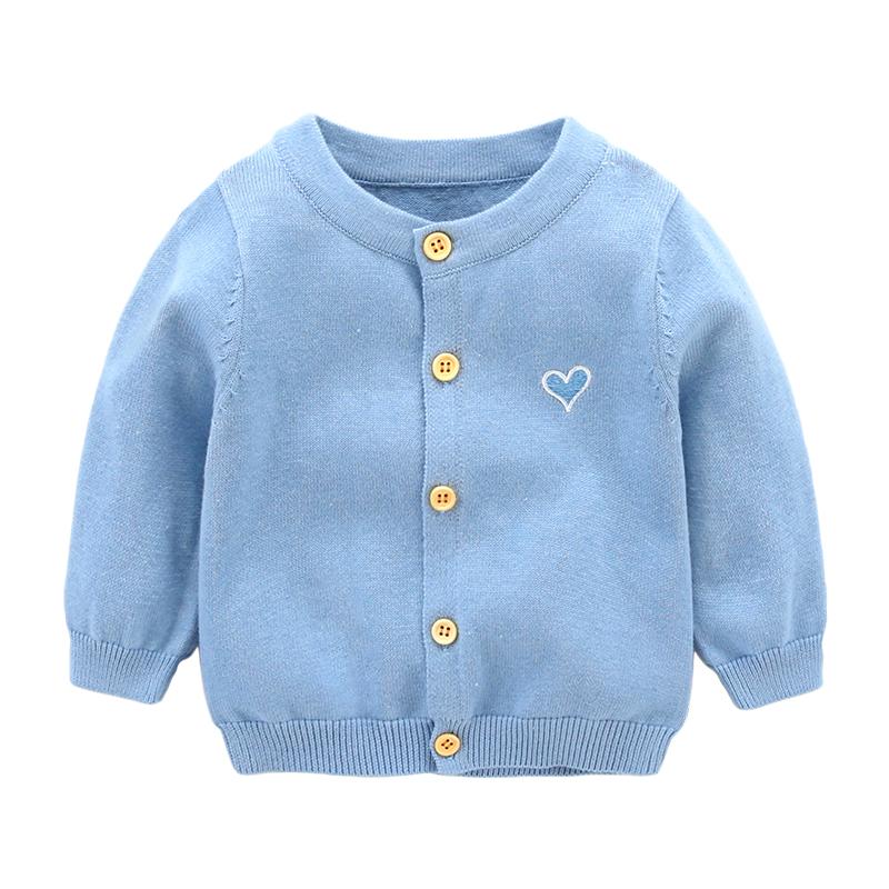 外套婴儿春季 纯棉春秋衣服针织新生儿 毛衣开
