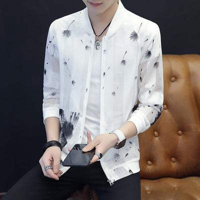 Sun bảo vệ quần áo nam áo khoác mùa hè 2018 mới của Hàn Quốc phiên bản của xu hướng của đẹp trai sinh viên trẻ siêu mỏng áo khoác kem chống nắng quần áo Đồng phục bóng chày
