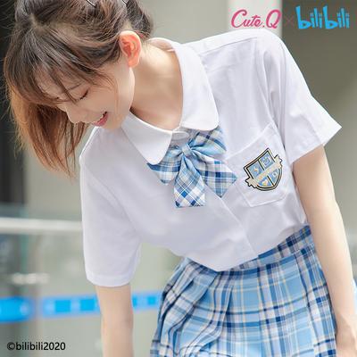 taobao agent 【Spot goods】Cute.Q x bilibili joint shirt female JK uniform long-sleeved shirt college style