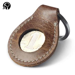 Nhỏ vòng biểu tượng vui vẻ móc chìa khóa coin bag key trang trí mảnh quà tặng món quà lớp đầu tiên da key trường hợp