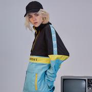 NOCAO 2018 mùa xuân và mùa thu retro áo khoác thể thao nam giới và phụ nữ ins chuỗi tiêu chuẩn vài hip hop triều áo khoác áo khoác