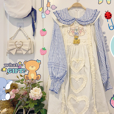 taobao agent Southern Cross Original【Sweetheart Bunny】 Cover skirt, embroidered lolita, versatile veil, sold out display