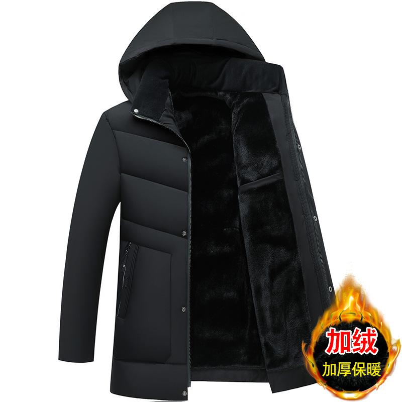 Áo khoác nam mùa đông có đệm, nam trung niên và cao tuổi cộng với áo khoác độn nhung - Trang phục Couple