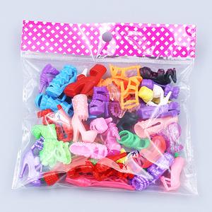 Ke Shidi Barbie giày cao gót pha lê giày giày phẳng phụ kiện với các phụ kiện 10 hoặc 20 cặp của một gói