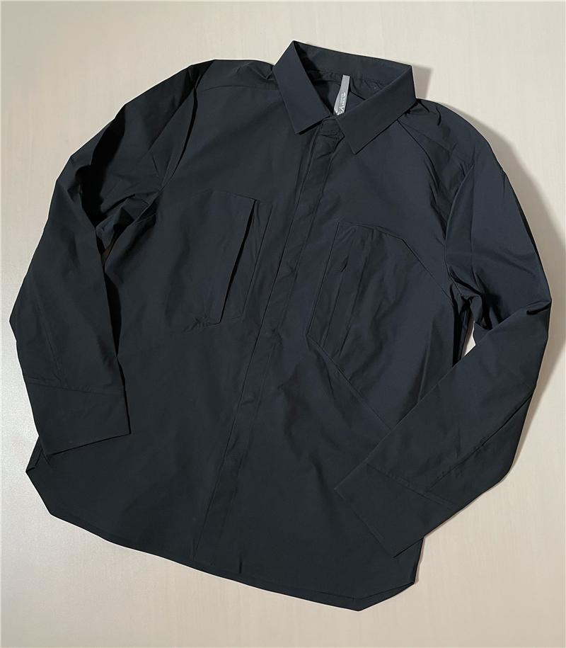 鸟家高端Veilance系列 超轻薄弹力户外压胶工艺 男士休闲长袖衬衫