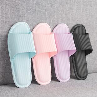 日式平底居家客用浴室防滑室内拖鞋女