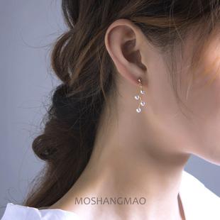 美国进口14K包金珍珠流苏耳环
