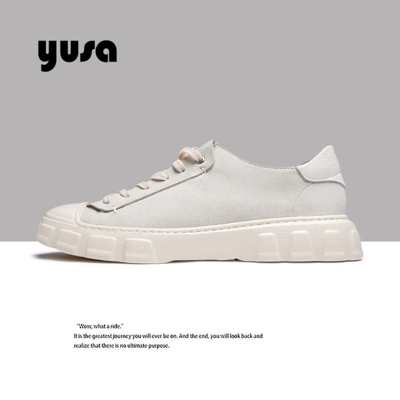 Giày nam mùa xuân Giày trắng 2020 Giày da nam thấp mới phiên bản Hàn Quốc của xu hướng giày thường nam Giày hoang dã - Giày thấp