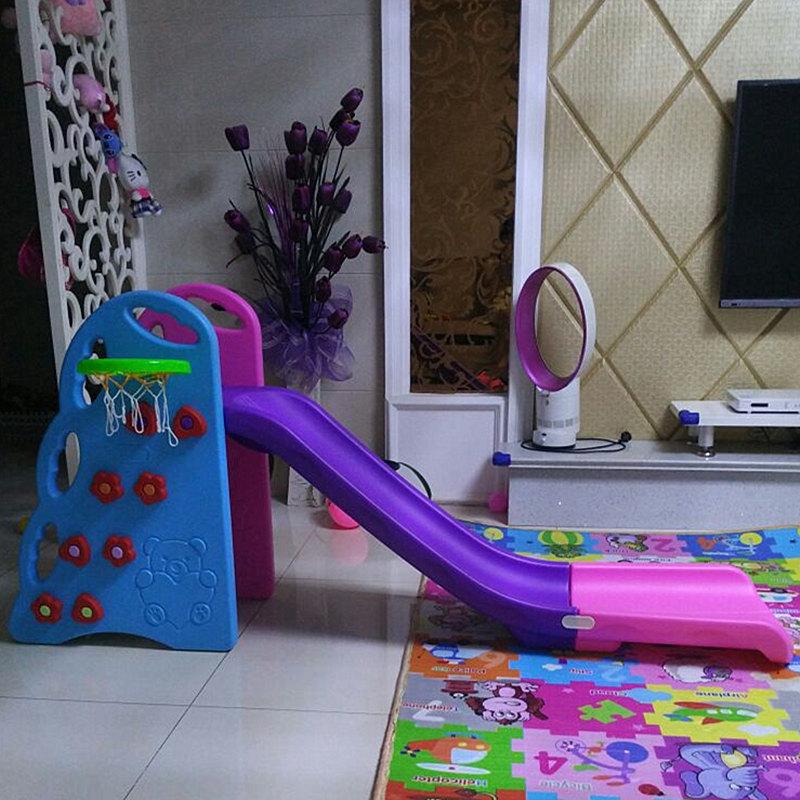 宝宝滑滑梯室内小孩加长组合婴儿滑梯家用加厚折叠小滑梯儿童玩具