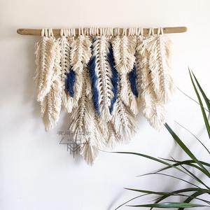 Bohemian tua tấm thảm sáng tạo tường mềm treo handmade cotton dệt đầu giường trang trí tường nhuộm dệt