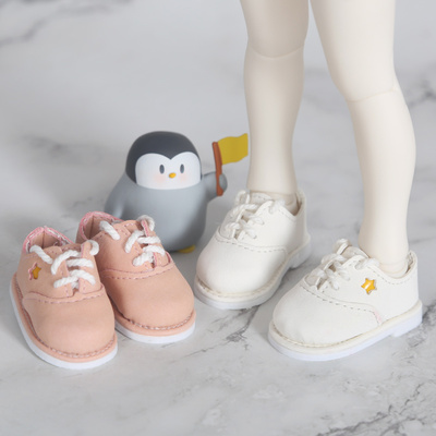 taobao agent BJD 6-point baby shoes, star sneakers, sneakers, small leather shoes, 1/6 yosd doll baby clothes with card meat
