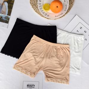 实拍实价夏季莫代尔棉女士安全裤防走光保险裤夏三分打底短裤内裤
