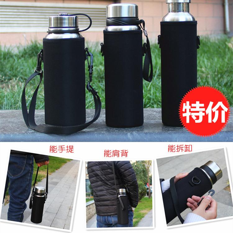 1000-1500 ml thermos cup lớn cách nhiệt cốc nước thiết lập với dây đeo dây thừng ấm đun nước bảo vệ bìa phổ 800