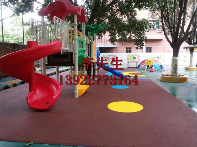 幼儿园环保无毒EPDM彩色塑胶地面材料幼儿园彩虹跑道厂家直销