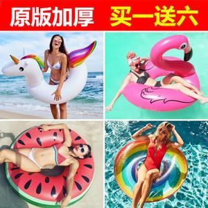 Phiên bản gốc của flamingo bơi vòng tròn tình yêu bơi vòng unicorn nách vòng nổi lớn phao cứu sinh chất béo dành cho người lớn núi