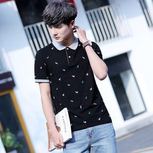 纯棉男士短袖t恤男装韩版体恤衣服