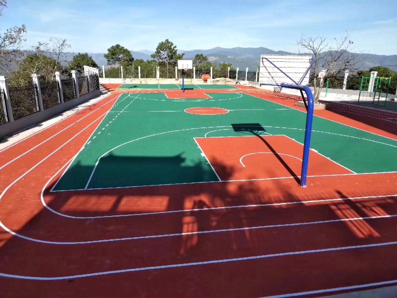 篮球场地硅pu丙烯酸篮球场地篮球塑胶篮球场地板漆硅pu材料施工