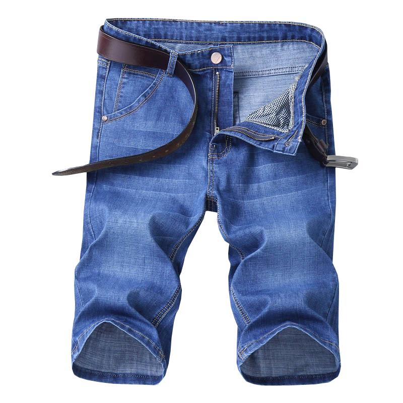 夏季薄款男士牛仔短裤男五分休闲牛仔裤子男宽松直筒马裤七分中裤