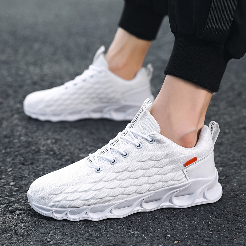 Man fashion running shoes white sneakers sport shoes for men