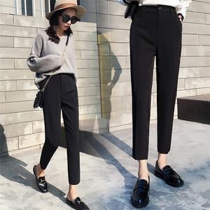 Phù hợp với quần nữ mùa hè phần mỏng mới Hàn Quốc phiên bản của bàn chân nhỏ Harlan chín quần eo cao là mỏng thẳng ống quần ống quần