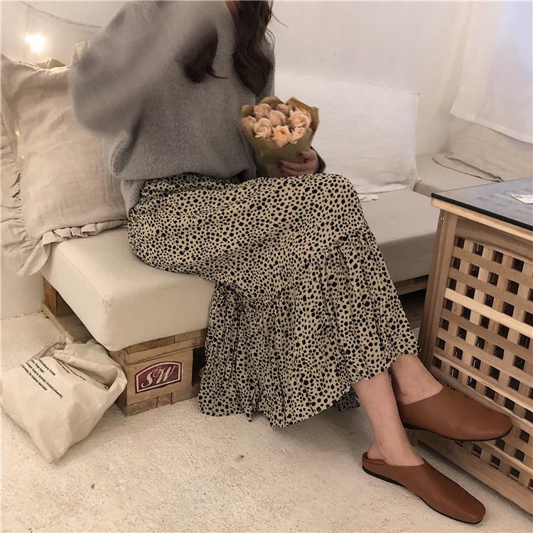 实拍实价~韩版春季简约百搭不规则皱褶松紧腰半身裙~已检测 1043#