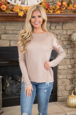 1547#亚马逊速卖通外贸女装2018新款圆领亮片拼接长袖t恤