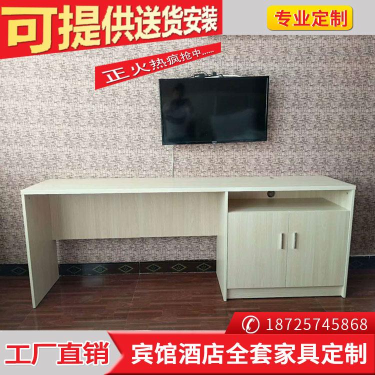 Khách sạn khách sạn có tủ TV hành lý giá máy tính một bàn đơn giản phòng khách sạn tiêu chuẩn phòng đầy đủ nội thất tùy chỉnh