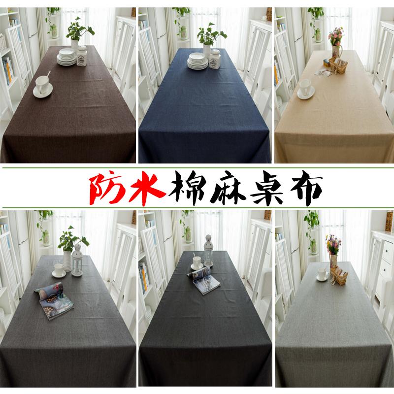 Không thấm nước màu rắn chống nóng bông hội nghị bàn trà vải bảng bàn cà phê đơn sắc khăn trải bàn đơn giản hình chữ nhật hiện đại