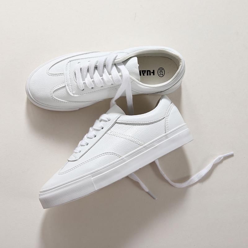 2018 mùa xuân mới hoang dã cơ bản giày trắng nữ Hàn Quốc phiên bản của thể thao giản dị giày nữ sinh viên chic giày vải