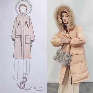 Chống mùa giải phóng mặt bằng chic bông quần áo bf của phụ nữ phần dài kích thước lớn lỏng mùa đông quần áo Harajuku xuống áo khoác áo khoác áo khoác