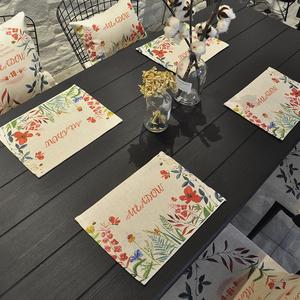 Đơn giản hiện đại bông và vải lanh phía tây khăn trải bàn khăn trải bàn cách nhiệt pad bảng mat lanh vải tấm pad bát mat chống nóng pad