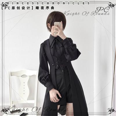 taobao agent 【PC original design】Dark Night Overture Retro Dark Medieval Handsome Long Vest