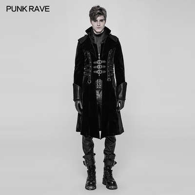 taobao agent PUNK RAVE punk state men's clothing ashes series male steampunk warrior functional wind long coat