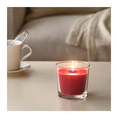 正品IKEA宜家西恩利香味烛和玻璃杯香薰烛台蜡烛杯无烟杯蜡大