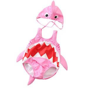 Bé Xiêm Áo Tắm Chàng Trai và Cô Gái Cá Mập Dễ Thương Áo Tắm Cô Gái Trẻ Em Kem Chống Nắng Áo Tắm Đặt Trẻ Em Đồ Bơi