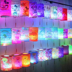 中秋节儿童卡通发光手提灯笼