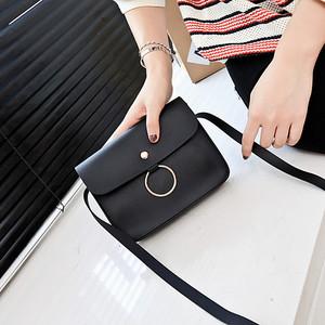 6007#秋季潮流新款圆环横款小方包绳子小包包单肩斜跨学生手机包