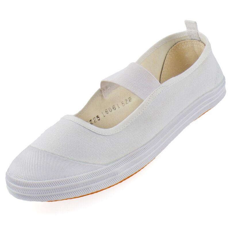 Quốc gia cách màu trắng tinh khiết phòng tập thể dục giày nữ mô hình vải trắng thấp để giúp duy nhất giày ban nhạc đàn hồi non-slip giày khiêu vũ giày nhỏ màu trắng