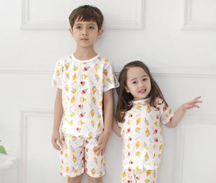 RainbowBus летний костюм хлопок мальчиков девочки короткий рукав домой одежда кондиционер установите нижнее белье пижама