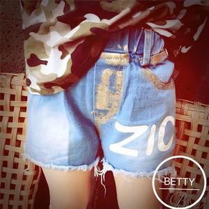 贝蒂小嘉 2016新款 儿童烫金ZIC毛边牛仔短裤 中性短裤 潮品