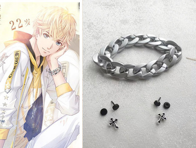 taobao agent COS props Love and producer Zhou Qiluo Bracelet Cross Earrings Ear clips