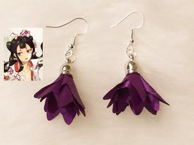 taobao agent COS Props Onmyoji SSR Flower and Bird Roll Unawakened Earrings Ear Clips COS Accessories