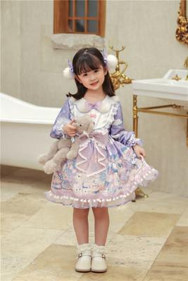 taobao agent 【Dear dolls】TZL878 original children's clothing plush doll machine light sweet op dress